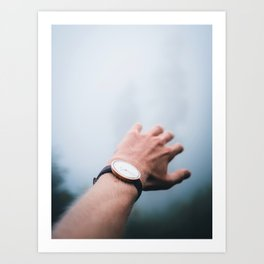 Wristwatch Misty Photography Art Print