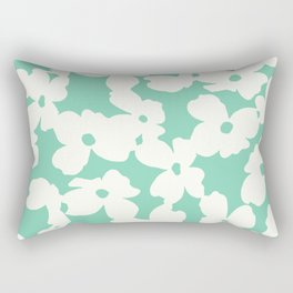 Dogwood: Mint Green Rectangular Pillow
