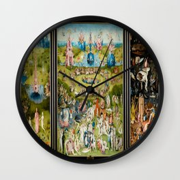 Hieronymus Bosch's The Garden of Earthly Delights Wall Clock