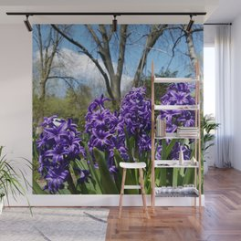Hyacinth Flowers - The Essence of Spring Wall Mural