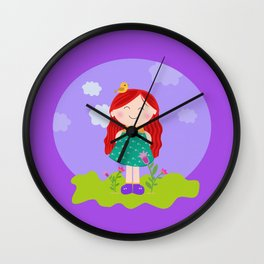 PeliRoja Wall Clock