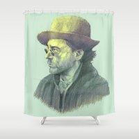sherlock holmes Shower Curtains featuring sherlock holmes by Doruktan Turan