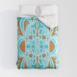 commune mandala, turquoise Comforters