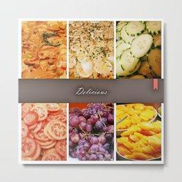 Food Collage Metal Print