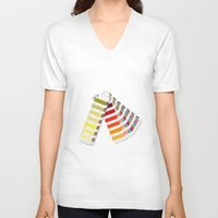 pantone V-neck T-shirts featuring PANTONE by VincenzoRusso
