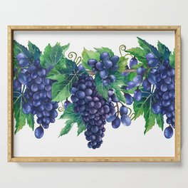 Watercolor grapes Serving Tray