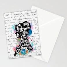 Mr. Darcy - Ardently Admire & Love You Stationery Cards