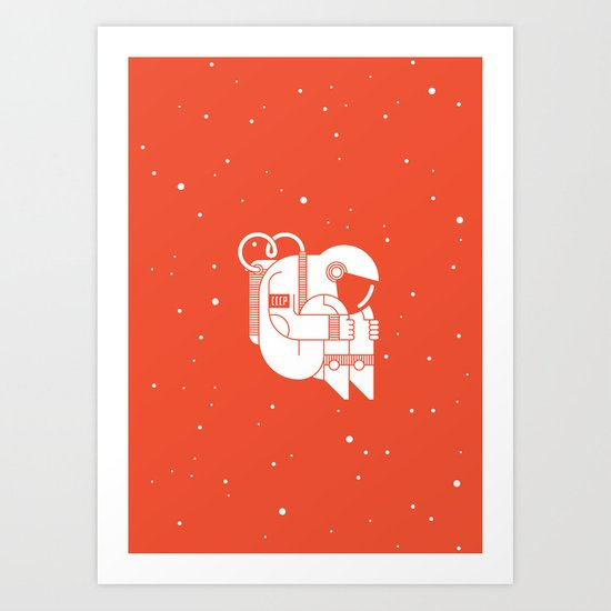The Cosmonaut Art Print