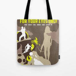 James Bond Golden Era Series :: For Your Eyes Only Tote Bag