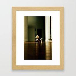 Charlie Brown & Snoopy Framed Art Print
