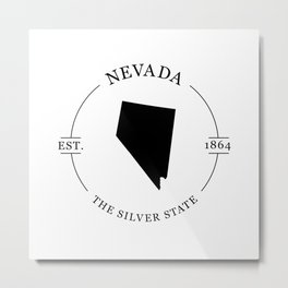 Nevada - The Silver State Metal Print