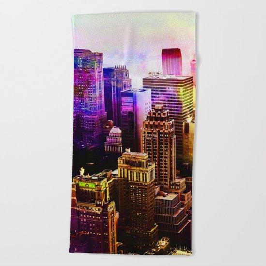 RainBow New York Beach Towel