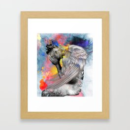 angel male nude Framed Art Print