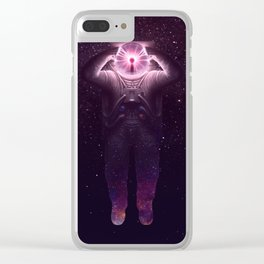 The mind blown Clear iPhone Case