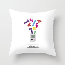 game ad Throw Pillow