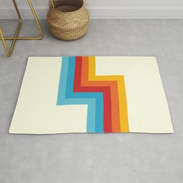 Bahlam - Classic Retro Summer Style Stripes Rug