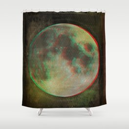 Stereo Moon Shower Curtain