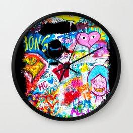 Graffiti Hypebeast Bape Illustration Wall Clock