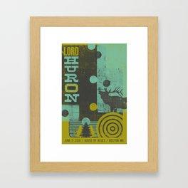 LH Woodtype Poster Framed Art Print