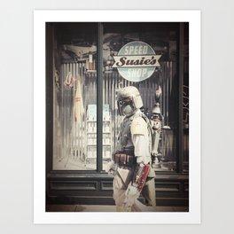 Boba Fett at Susie's Speed Shop Art Print