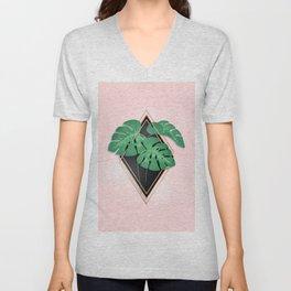 Palm Leaf Abstract Unisex V-Neck