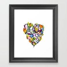 Latinoamérica LOVE Framed Art Print