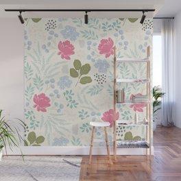 Ella Floral Pattern Wall Mural
