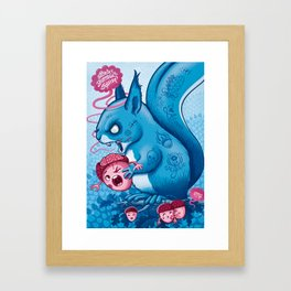 Zombie Squirrel Framed Art Print