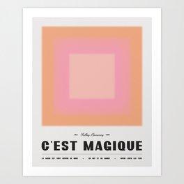 C'est Magique - Pink Art Print