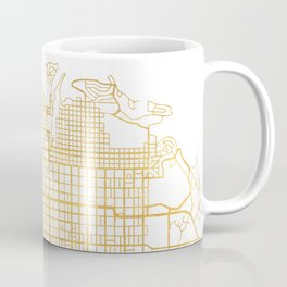 SALT LAKE CITY UTAH CITY STREET MAP ART Coffee Mug