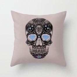 Skull Diamond Throw Pillow