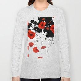 girl poppy red Long Sleeve T-shirt