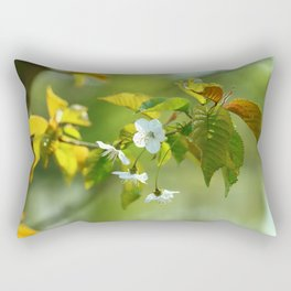 Delicate Spring Blossoms Rectangular Pillow