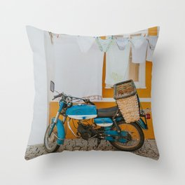 Clothing Line in Portugal - Travel Photography  Throw Pillow