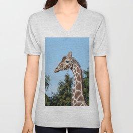 Reticulated giraffe Unisex V-Neck