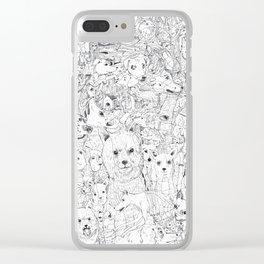 Les Chiens Clear iPhone Case