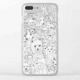 Les Chiens Clear iPhone Case