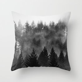 Charcoal Forest Fog - 26/365 Throw Pillow