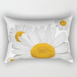 Daisy flower minimal white cute Rectangular Pillow