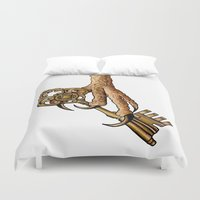 ravenclaw Duvet Covers featuring Ravenclaw by SDKCreative