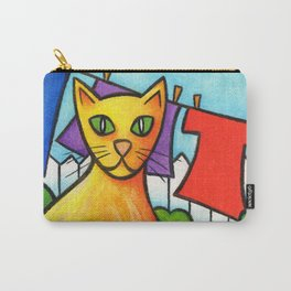 Cat On Fence Carry-All Pouch