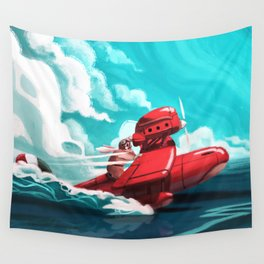 Porco Rosso Wall Tapestry