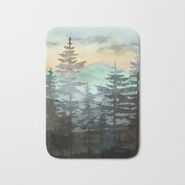 Pine Trees Bath Mat