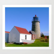 Monhegan Island Lighthouse  Art Print