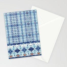 Indigo Shibori Stationery Cards