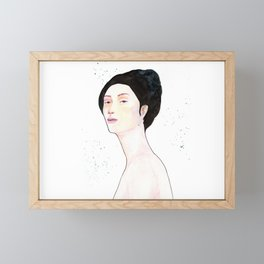 Watercolor - Portrait Framed Mini Art Print