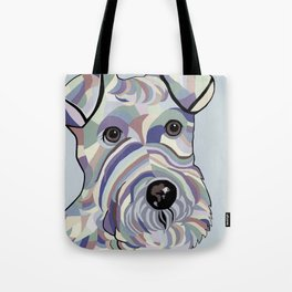 Wire Hair Terrier Denim Colors Tote Bag