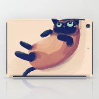 nan lawson iPad Cases featuring Blue Eyes by Nan Lawson