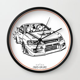 Crazy Car Art 0196 Wall Clock