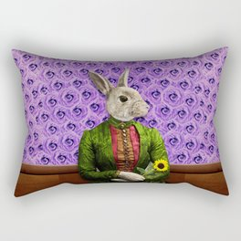 Miss Bunny Lapin in Repose Rectangular Pillow
